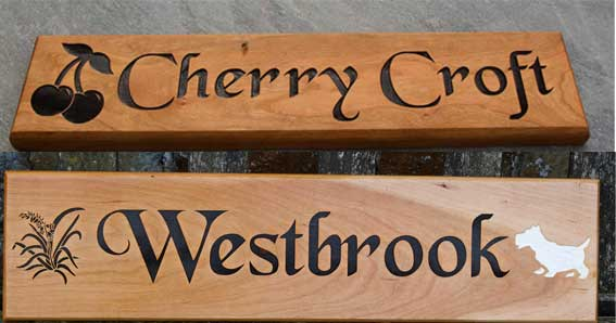 Cherry signs by The Sign Maker Devon