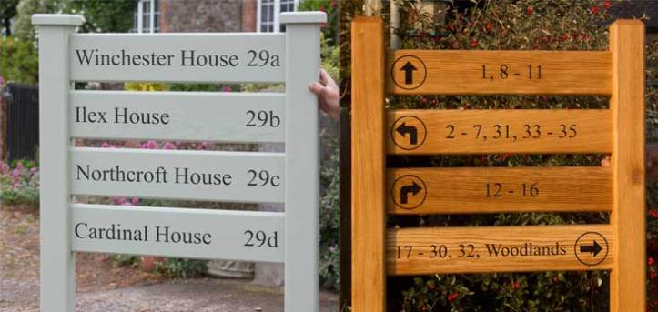 Ladder signs manufactured by The Sign Maker North Devon