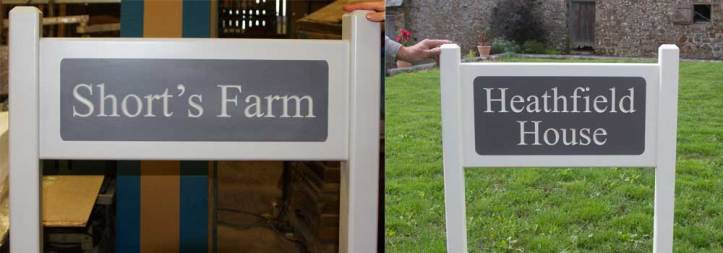 Superior entrance signs made by craftsmen at The Sign Maker