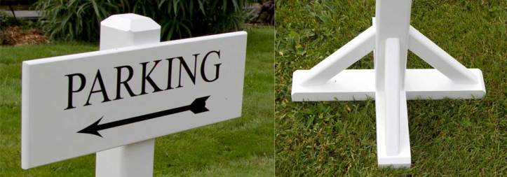 Close ups of portable painted wooden signs by The Sign Maker