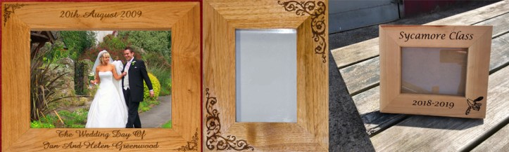 Beautiful hand crafted photo frames made by The Sign Maker