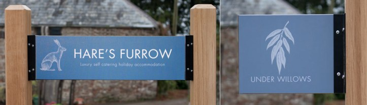 T-channel entrance signs made by The Sign Maker, North Devon