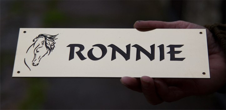 High quality Brass stable nameplates.