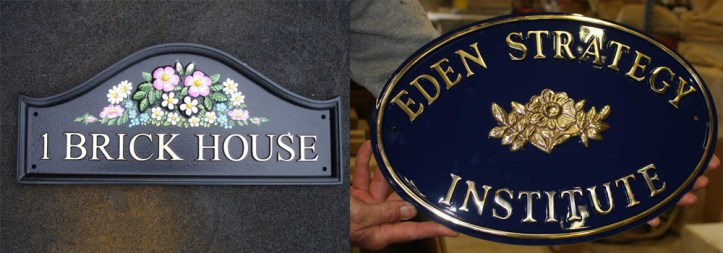 High quality cast house signs by The Sign Maker.