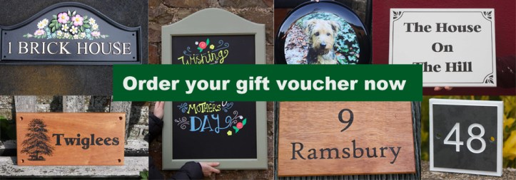 You are not too late to get a brilliant present. Order your gift voucher from The Sign Maker now.