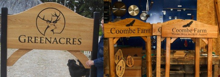 Farm and Estate signs crafted by carpenters here at The Sign Maker.
