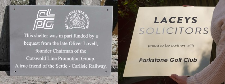 Engrave plaques for business made in our rural workshop of North Devon.