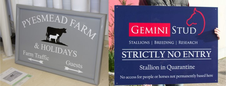 Signboards made by The Sign Maker make for perfect business signs.