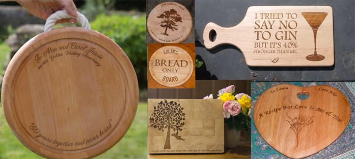 Personalise your own chopping board to gift to your loved one this valentines.