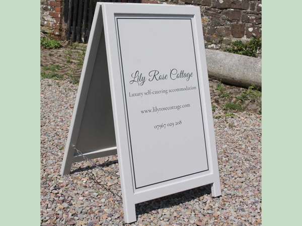 Bespoke a-boards are the perfect way to advertise your business from the roadside.