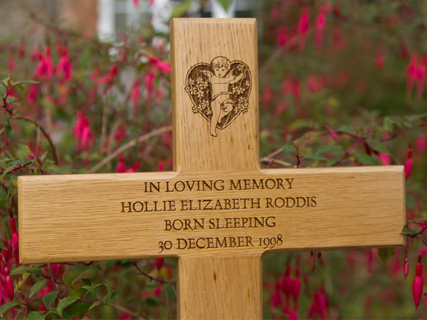 Memorial crosses made by The Sign Maker, North Devon.