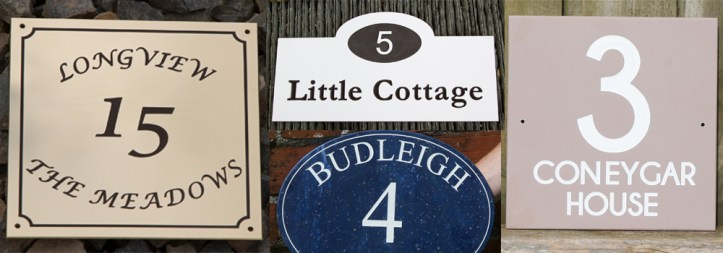 Beautiful engraved house number signs made by The Sign Maker, North Devon.