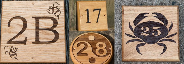 Beautiful, high quality wooden house number sign by The Sign Maker.