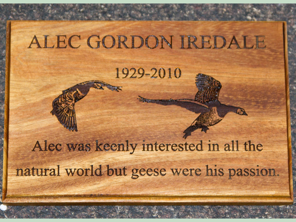 Stunning wooden memorials created by carpenters at The Sign Maker.