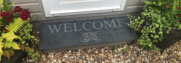 Personalised Door steps are a beautiful addition to your home.