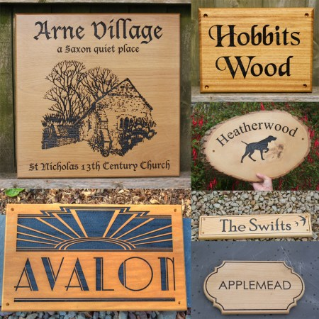 Beautiful wooden house signs made by The Sign Maker.