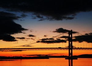 sunrise and bridge