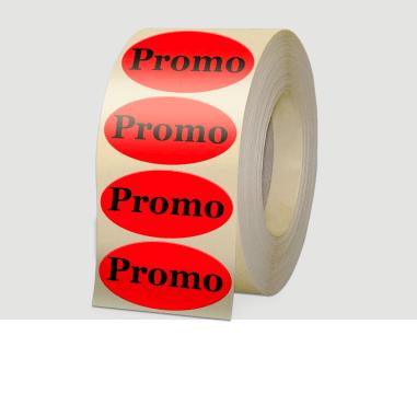 etiquettes fluo promotionnelle