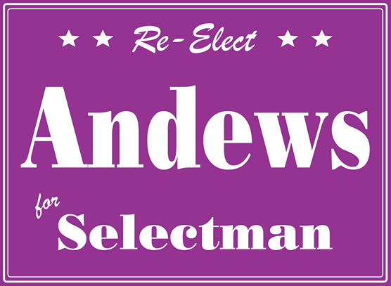 Example of a One Color Yard Sign. Purple.