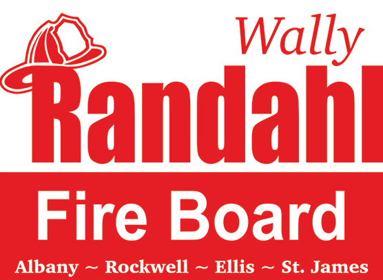 Example of a One Color Yard Sign. Red,