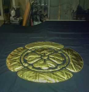 Samurai Blue Quilted Emblem