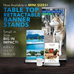 tabletop retractable banner stands