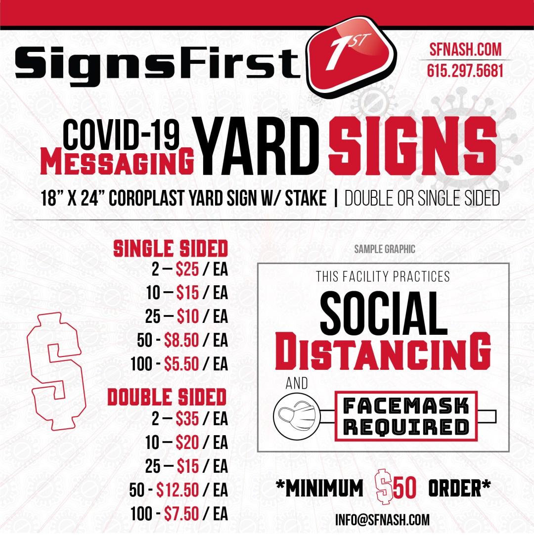 Covid-19 Yard Signs