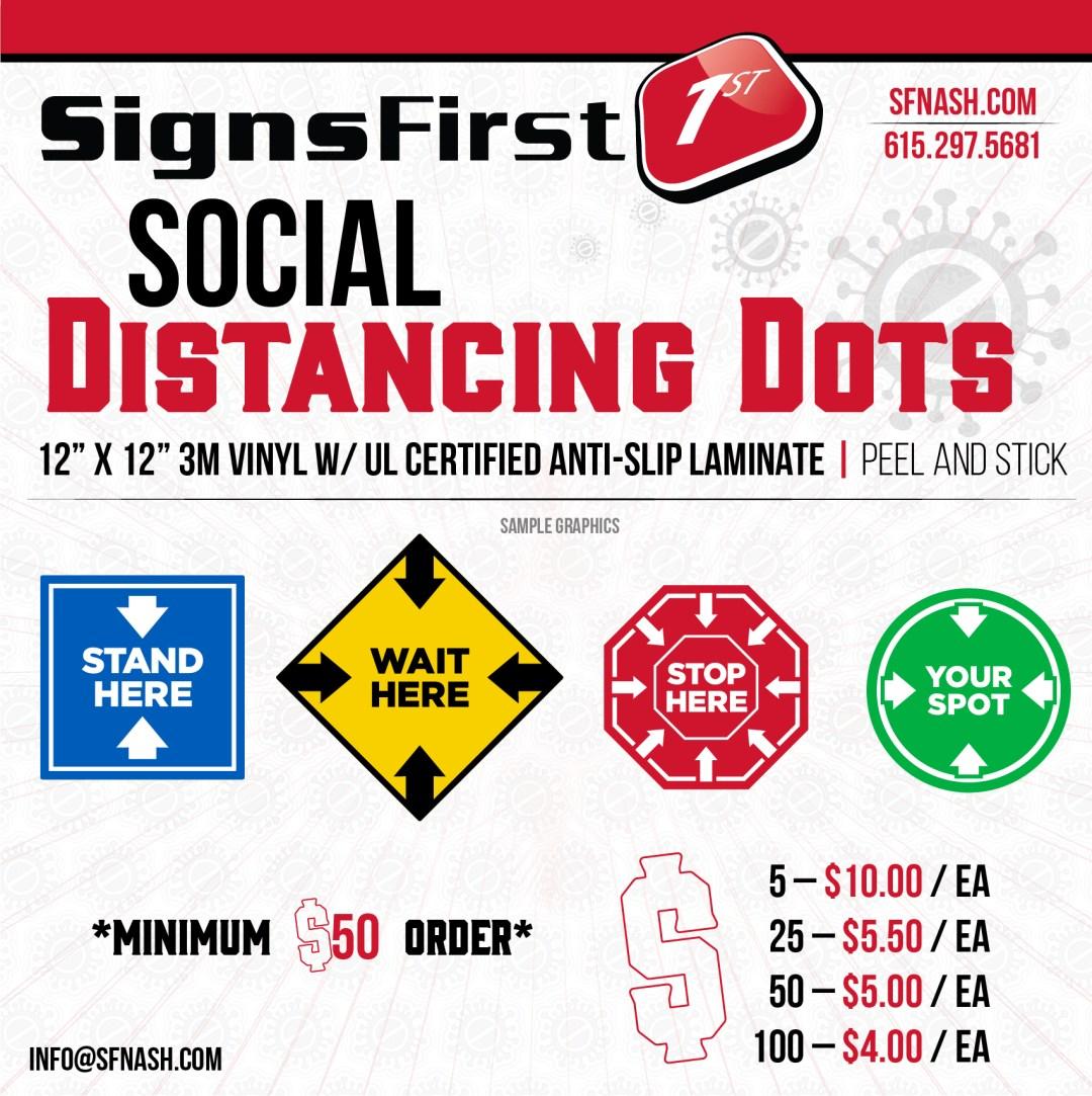 Social Distancing Dots