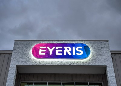 Eyeris – Front & Halo Lit Sign