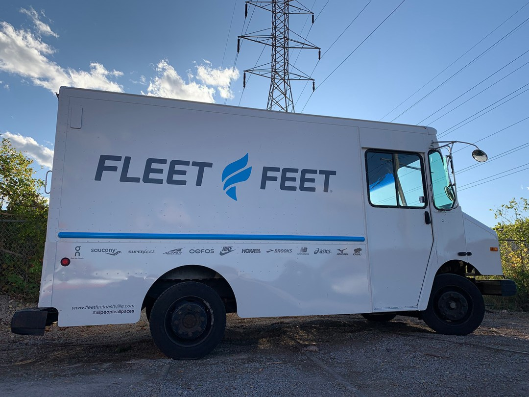 Fleet Feet_Truck Graphics fulls close