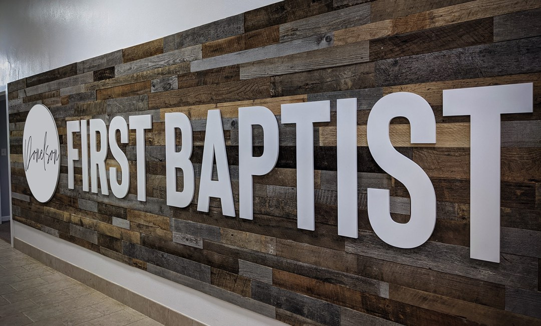 Donelson First Baptist_Large Logo Sign