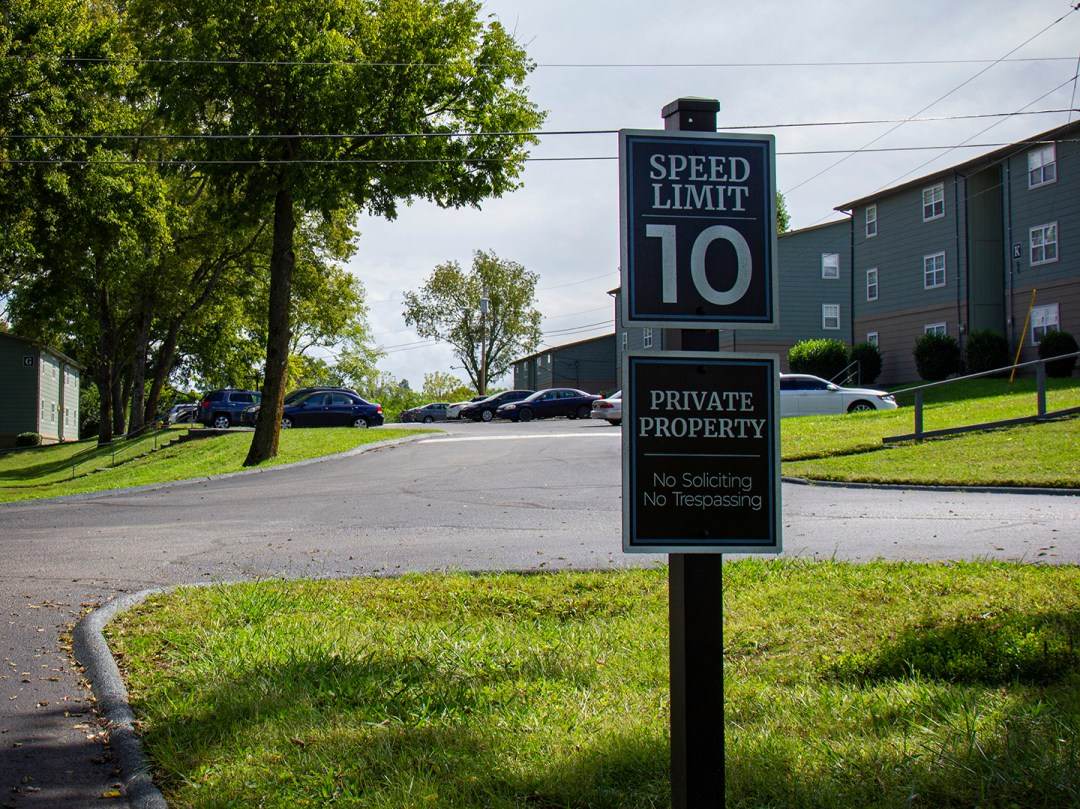 The Ashley_Private Property and Speed Limit