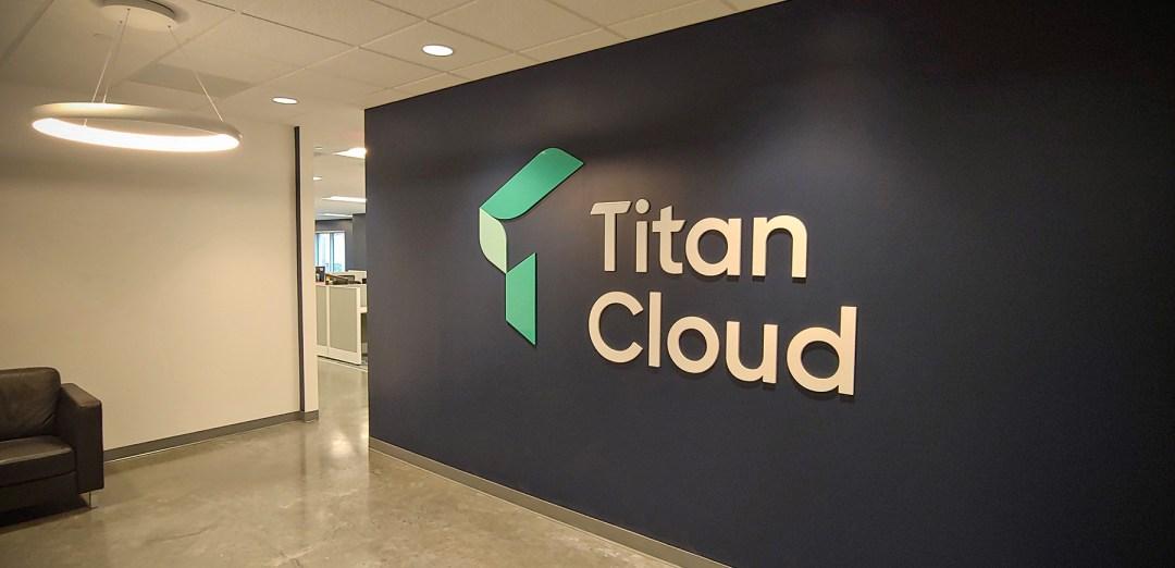 Titan Cloud_3D Logo and Wall Wrap