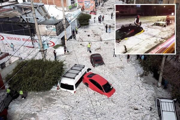 Hail 5 FEET DEEP Hits 5 Million People In Guadalajara ...