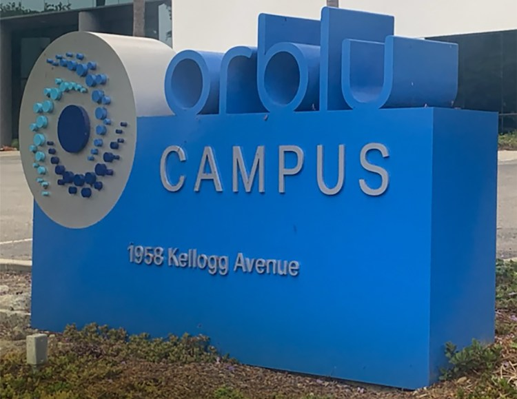 This monument sign by Signs for San Diego (Oceanside, CA) features a hybrid of fabricated/welded and push-through acrylic letters.