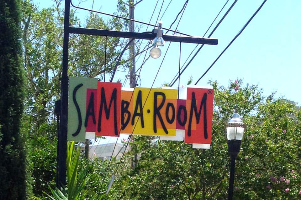 Samba Room Pole Sign