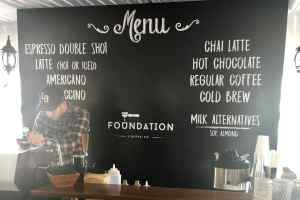 Dibond Sign with Vinyl - Menu