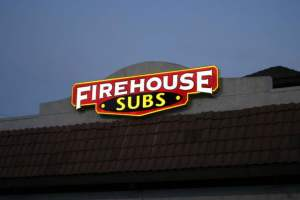 firehouse subs exterior backlit pan face sign