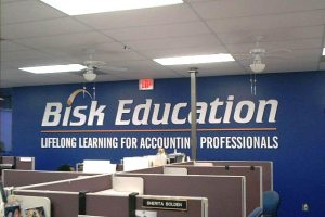 Wall Mounted Dimensional Routed Letters Sign