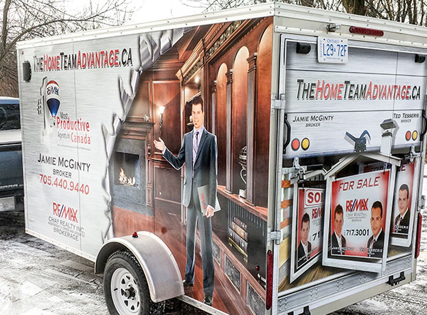 ReMax box trailer Wrap