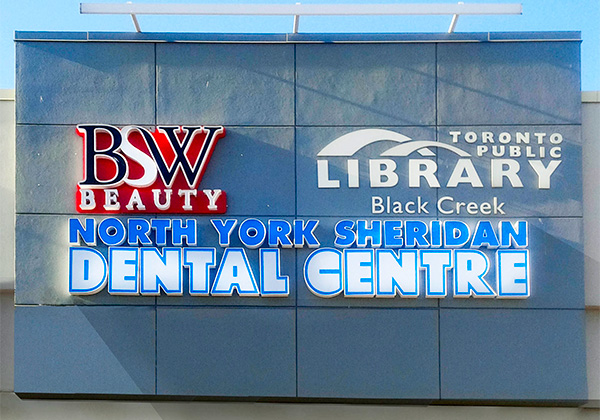 forward illumination LED channel lettesr sign toronto