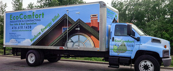 large box truck vinyl wrap
