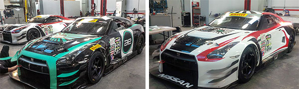 Nissan Racing Team cars wrapped by Sign Source Solution of Vaughan