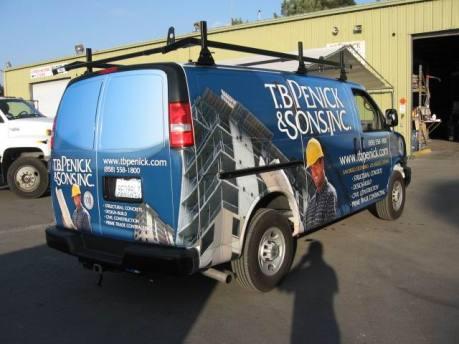Full wrap on Chevy van