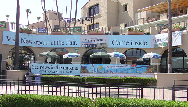 San Diego Union-Tribube large banners for Fair