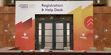 Hotel wall branding for special event