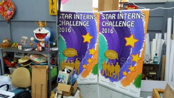 1.2 x 2m roll up banners - Star Interns Challenge