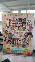 1.5 x 2m Roll up banenr for birthday event