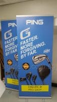 2 x 0.85m roll up banner - PING GOLF