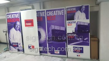 2 x 0.85m roll up banners - Creavtive France